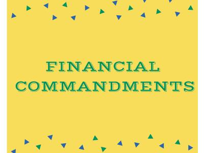 Financial Commandments