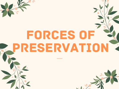 Forces Of Preservation