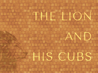 The Lion And His Cubs