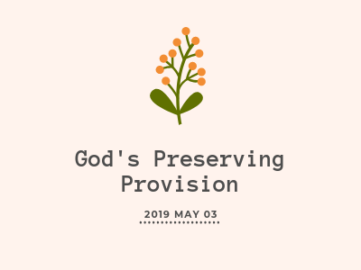 God's Preserving Provision